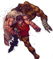 Ryu vs Sagat-SF Action by -seed-