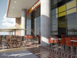 McDonald's exterior tables by meling-3d