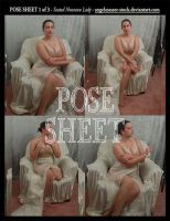 POSE SHEET 1 of 3: Seated Nouveau Lady by themuseslibrary