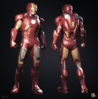 Iron Man Mark VII 3D (Jetpack+Missile Racks) (2) by Scarlighter