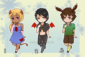Random Adopts! (Closed) by WanNyanAdopts