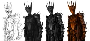 Dark Lord Sauron Stages by SpartanK42