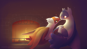 Candy Cane Kiss: Latias x Latios Xmas 2015 by streetdragon95