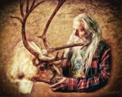 Santa and Reindeer ~ Shawna Mac by ShawnaMac