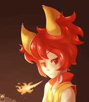 Humanized Fennekin by Miss-Sheepy