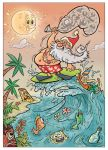 Surfin' Santa by HammersonHoek