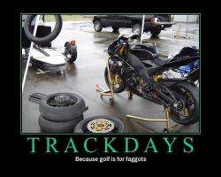 Motorbike Posters-Track Days by Eccles116