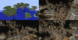 Minecraft Forge City/Floating Islands by lunchbox1234