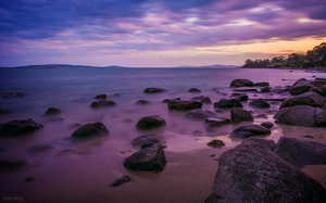Slow Exposure: Derwent River at Sunset (7) by KittenKiss