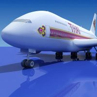 3d Model of Airbus A380 Thai by Gandoza