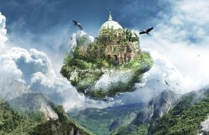 Cathedral in the air photo manipulation by Kir4PL