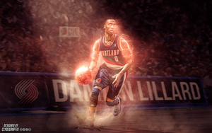 Damian Lillard | Wallpaper by ClydeGraffix