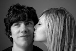The kiss by monochronicle