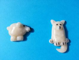 snow creature fridge magnets by NoMoreThanMe