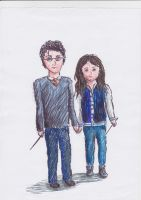 Harry Potter and my friend:D by orkinas