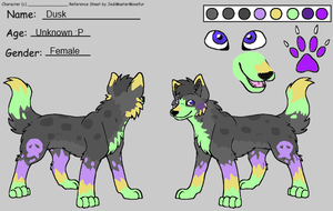 Dusk Reference Sheet Entry for a contest by PixieGirl3