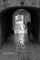 A medieval alley by GerardPhoto