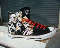 One Piece , custom shoes by Annatarhouse