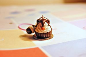 Landry Cupcake Charm by FatCatCharms