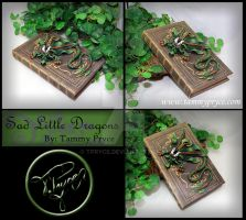 Green N Bronze Dragon on Thin Book by Tpryce