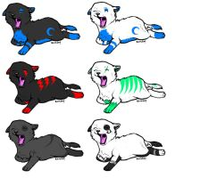adoptable puppies GONE by JENNY8888