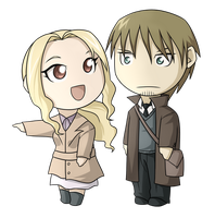 Berthold and Emily Chibi by kasuria