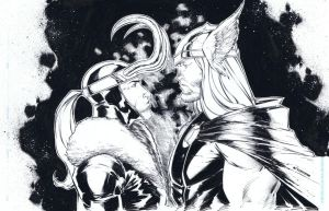 Thor vs Loki! by adelsocorona