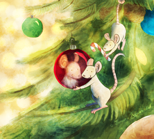 Christmas Mice 2015 by tamaraR