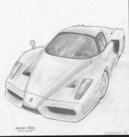 Ferrari Enzo Drawing by Axertion