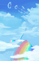 That Rainbow Streak by DarkFlame75