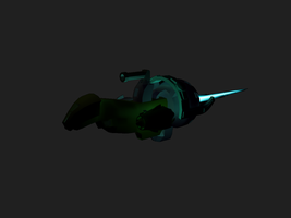 My first 3D spaceship by Ultimaodin
