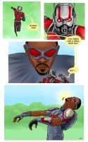 Ant VS Falcon by TheWatcherOnTheWall