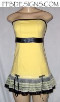 Yellow mini-dress by funkyfunnybone