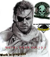 Big Boss - VENOM SNAKE. Metal Gear Solid V- WIP by GabrielArtist