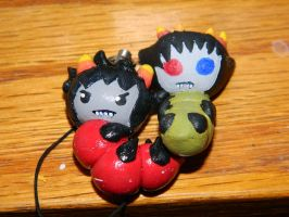 Karkat and Sollux grubs by defeatedart