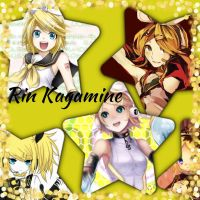 Rin Kagamine collage by Xendrak18
