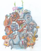 Bear Band Serenade by DanSchoening
