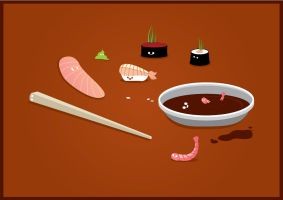 Happy Sushi Time by willylorbo
