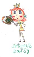 Princess Daisy in Mario tennis open by PrincessDaisyRocks10