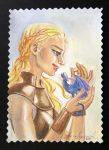 Daenerys Mother of Dragons by JPepArt