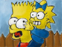 Bart and Maggie by Quacksquared