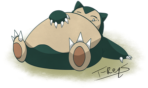 Snorlax by T-Reqs