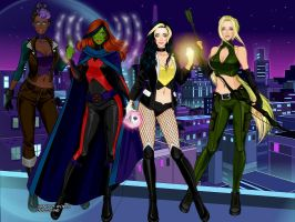 Girls Of Young Justice by PrincessAquata