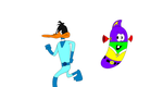 Duck Dodgers and Larry-Boy by PacandPinky101