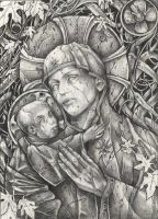 Theotokos Pencil version by telegrafixs