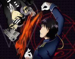Roy Mustang vs. Death the Kid by gothicflame13