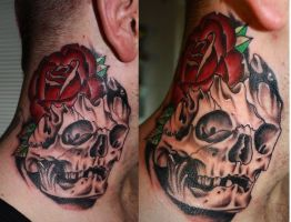 skull n rose by Unibody