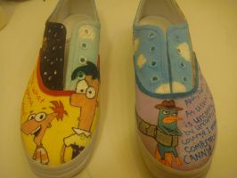 Phineas and Ferb Shoes view 1 by ej73223