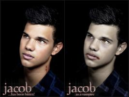 Jacob Black as a vampire by martinrivass