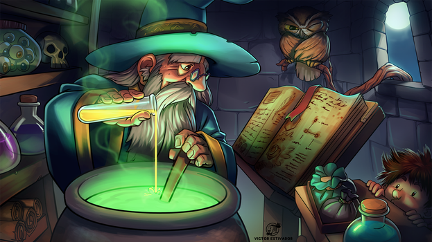 The Mage Working by estivador